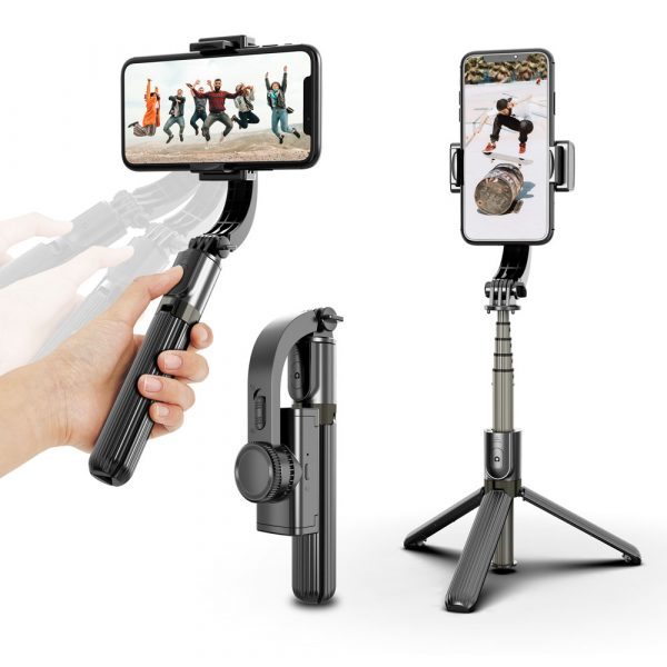 Gimbal stabilizer tripod selfie stick tripod wireless remote control mobile phone tripod Compatible with iOs and Android