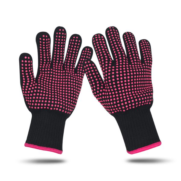 Heat Resistant Finger Glove Hair Straightener Perm Curling Hairdressing Hand Protector