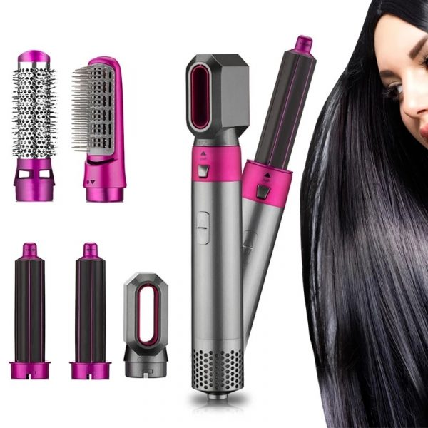 Free Carry Bag 5 In1 Hair Dryer Comb One Step Multi Functional Hair Curling Styling Straightener Curler Electric Air Iron Wand Brush
