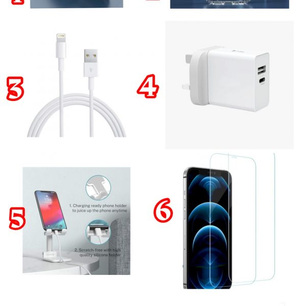 8 in 1 - i Phone 12 & 12 Pro Accessories bundle